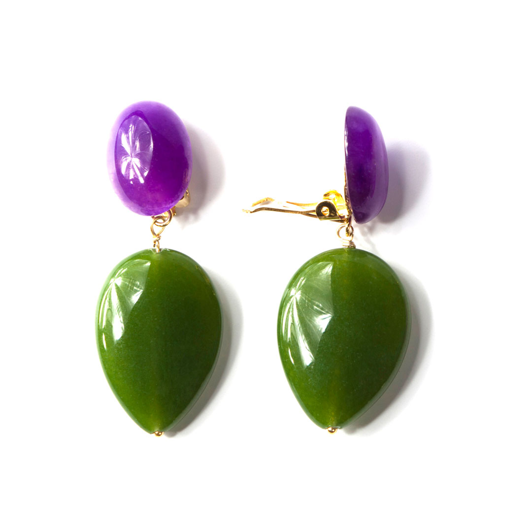 Amethyst gruene jade