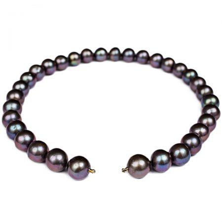 Perlenkette dunkel