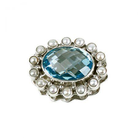 Wechselschliesse topas perlen