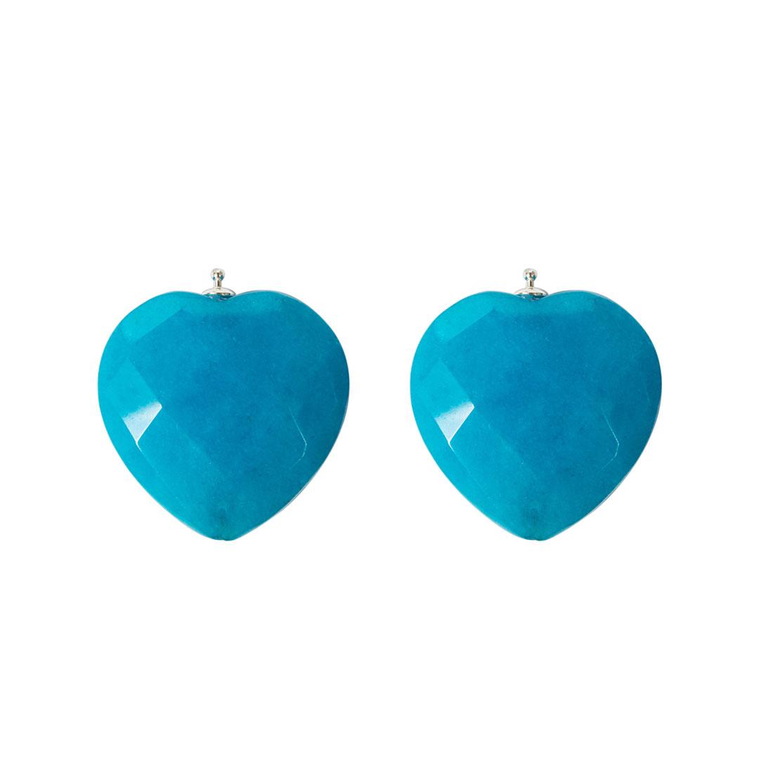 Herz blau facettiert