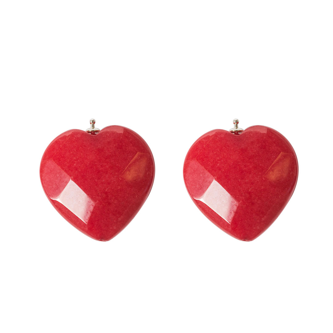 Herz facettiert rot