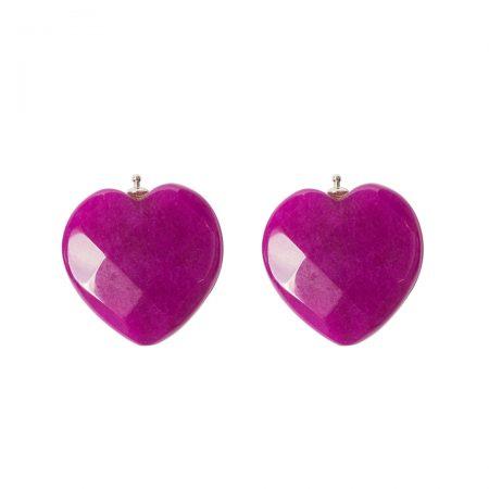 Herz facettiert violett