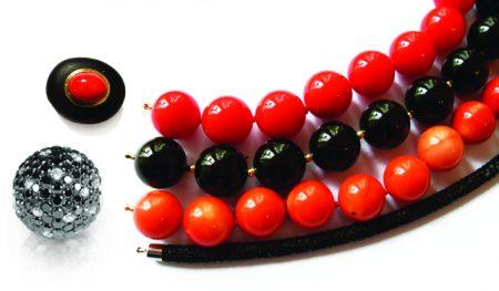 Rot schwarze ketten mit schliesse kopie