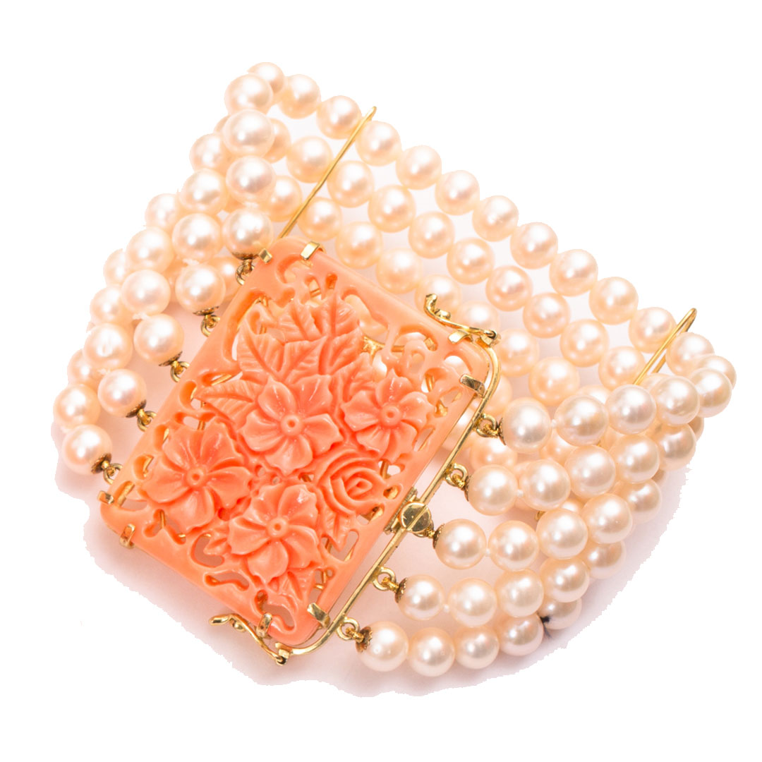 Perlenarmband orange