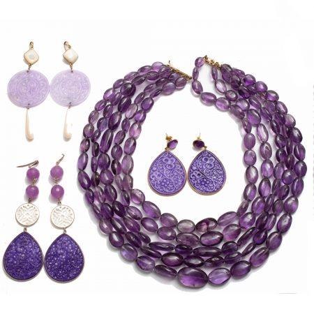 Schmuck violett